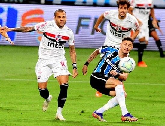 2020 - Semifinal - Grêmio: mais uma eliminação para os gaúchos. Na ida, vitória do Grêmio por 1 a 0 e na volta, empate sem gols.
