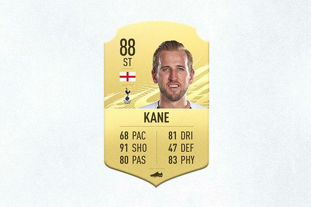 21- Harry Kane (Tottenham) - 88 de Overall - A classificação de finalização de Harry Kane é uma das melhores do jogo, por isso o inglês é uma das melhores opções para montar seu ataque no Ultimate Team