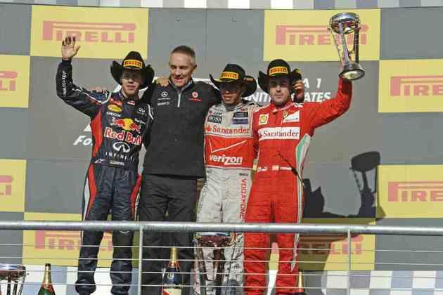 21 - Lewis Hamilton superou Sebastian Vettel para vencer a primeira corrida da Fórmula 1 em Austin, nos Estados Unidos, em 2012