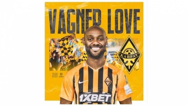 21º - Vágner Love - 36 anos - brasileiro - 333 gols em 687 jogos - Clube atual: Kairat-KAZ