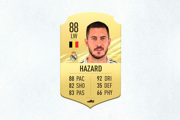 22- Eden Hazard (Real Madrid) - 88 de Overall - Hazard sofreu na última temporada com lesões e pouco atuou com a camisa do Real Madrid, por isso o belga deixou de ser o 4º melhor do jogo para o 22º