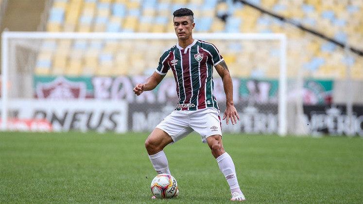 23º - Egídio - Posição: Lateral-esquerdo - Clube: Fluminense - Idade: 35 anos - Valor de mercado segundo o Transfermarkt: 800 mil euros (aproximadamente R$ 4,94 milhões) - Contrato até: 31/12/2021