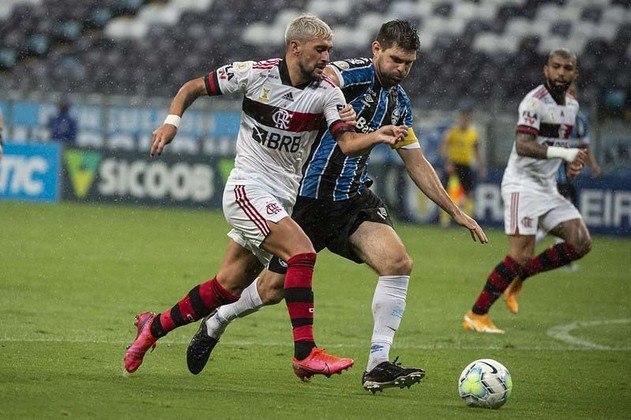 23ª rodada) Grêmio 2x4 Flamengo, na Arena do Grêmio, em 28 de janeiro de 2021