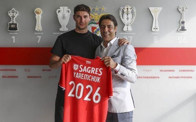 24° colocado - Benfica - 167 jogadores contratados - Última aquisição: Yaremchuk (17 milhões de euros).