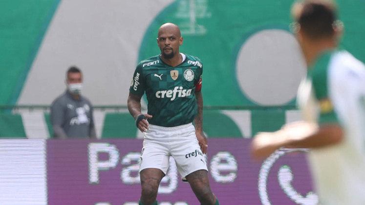 24º - Felipe Melo - Posição: Volante - Clube: Palmeiras - Idade: 38 anos - Valor de mercado segundo o Transfermarkt: 600 mil euros (aproximadamente R$ 3,71 milhões) - Contrato até: 31/12/2021