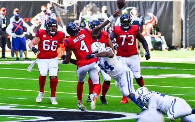 24º Houston Texans (4-8) - É triste ver Deshaun Watson quase guiando uma vitória sobre os Colts sem seus 3 principais recebedores. Falta talento ao redor do talentoso QB.