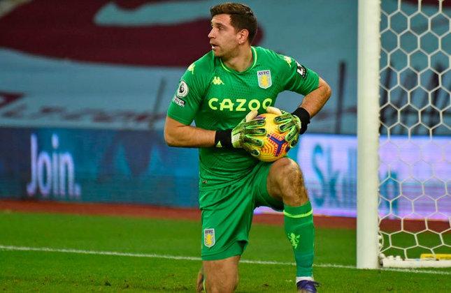 24º lugar: Emiliano Martinez: Goleiro - Argentina - Aston Villa - Valor: 30 milhões de euros (aproximadamente R$ 179,5 milhões)