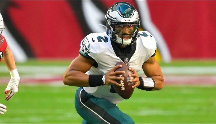 25º Philadelphia Eagles (4-9-1): Com Jalen Hurts, o ataque cresceu de produção e a equipe cria esperanças de conquistar a divisão