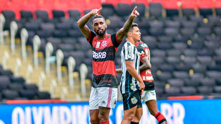 25ª rodada) Flamengo 4x1 Santos, no Maracanã, em 13 de dezembro de 2020