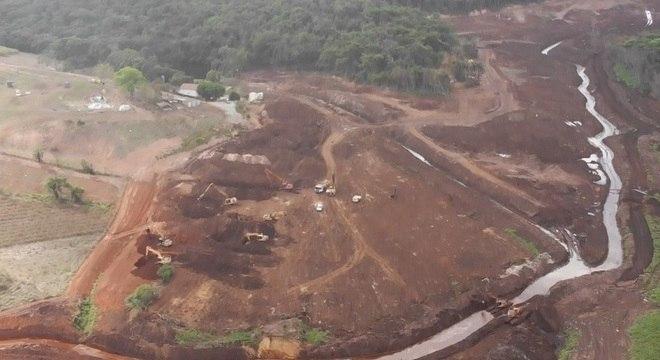 Imagem aérea mostra local onde corpo da vítima foi encontrado