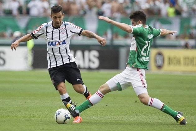 25/10/2014 - Palmeiras 1 x 1 Corinthians - Pacaembu - 31ª Rodada Brasileirão-2014: Verdão saiu na frente com Henrique Dourado e Danilo empatou nos acréscimos do segundo tempo.