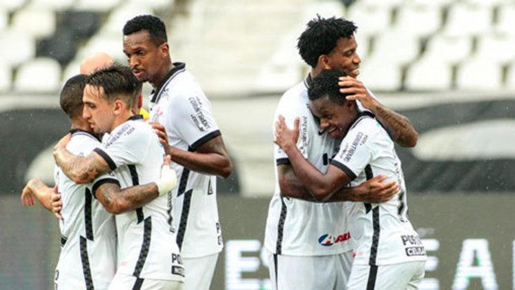27ª Rodada - Corinthians vence o Botafogo por 2 a 0 e permanece na 9ª (39 pontos). Distância para o G6: 5 pontos.