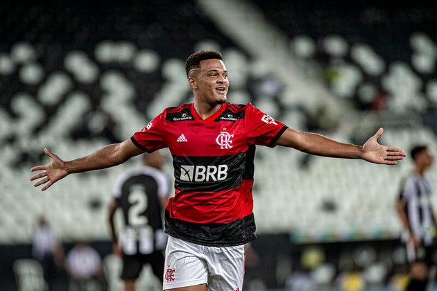 27º - Rodrigo Muniz – 20 anos – atacante – Flamengo / valor de mercado: 3 milhões de euros