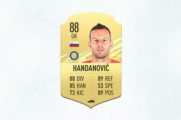 27- Samir Handanovic (Inter de Milão) - 88 de Overall - Com o mesmo overall do ano passado, Handanovic subiu 13 posições neste nova FIFA e é o melhor goleiro do Campeonato Italiano no game
