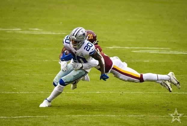 28 - Dallas Cowboys: Desfigurado e com problemas internos, o Dallas Cowboys é a grande decepção de 2020.