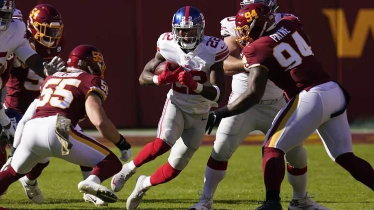 28º New York Giants - Duas vitórias na temporada, as duas sobre o Washington. Pelo menos são melhores que alguém.