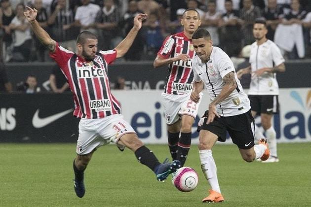 28/3/2018 - Corinthians 1 (5) x (4) 0 São Paulo - Semifinal do Paulistão. Gol: Rodriguinho (COR)