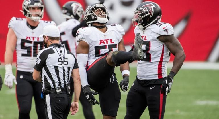 29º Atlanta Falcons (4-12): Um time com tanto talento, mas não consegue finalizar vitórias. Falcons precisa de um novo treinador e também mais força mental para 2021.