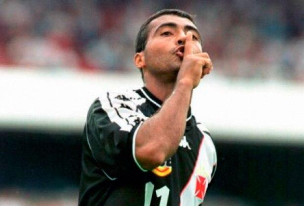 29/04/2001 - Vasco 7 x 0 Botafogo - Gols do Vasco: Juninho Paulista (3), Romário (2), Euller e Pedrinho