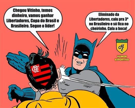 29/08/2018 - O Flamengo até venceu o Cruzeiro por 1 a 0 no Mineirão, mas não reverteu os 2 a 0 sofrido no Maracanã e amargou mais uma eliminação na Libertadores. Vitinho, contratado com status de craque 1 mês antes, foi lembrado nos memes.