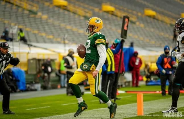 3º Aaron Rodgers - O QB dos Packers está demonstrando a força no braço e precisão dos seus tempos de juventude. O tempo não passa?