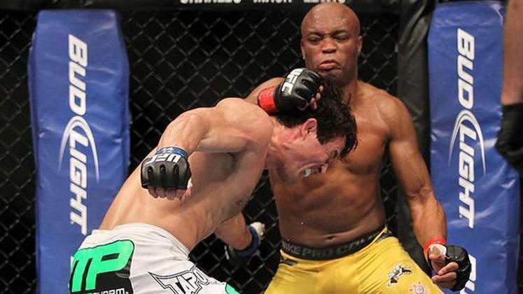3ª. Anderson Silva x Chael Sonnen (UFC 148) - Em julho de 2012, o Spider voltou a vencer o falastrão Sonnen, conhecido pelas provocações polêmicas. Após um início ruim, o brasileiro se recuperou na luta, deu show e nocauteou o americano no segundo round