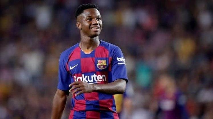 3- Ansu Fati: Um dos destaques do Barcelona nessa temporada, Ansu Fati aparece na terceira colocação, com cotação de 122.7 milhões de euros (R$ 815,9 milhões).