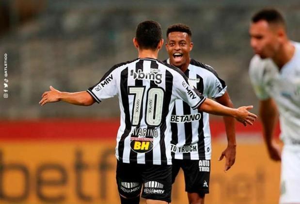 3º - Atlético-MG - 33 pontos em 18 jogos. Nove vitórias, seis empates e três derrotas. Trinta e um gols marcados e vinte sofridos. 61,11% de aproveitamento.
