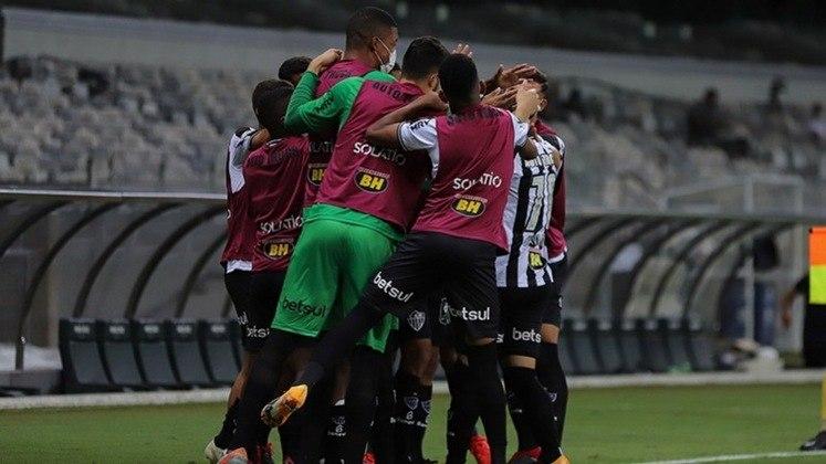 3º colocado – Atlético-MG (46 pontos/26 jogos): 7,6% de chances de ser campeão; 91,9% de chances de Libertadores (G6); 0% de chance de rebaixamento.