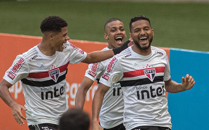 3º colocado – São Paulo (38 pontos) – 29,7% de chances de título; 90,9% para vaga na Libertadores (G6); 0,003% de chance de rebaixamento.