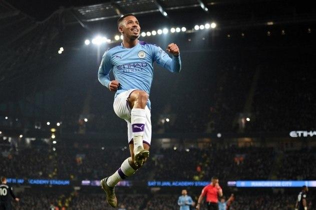 3º - Gabriel Jesus - Manchester City - Inglaterra - 18 gols na temporada - 10 gols na Premier League, 5 gols na Champions League, 2 gols na Copa da Inglaterra e 1 gol na Copa da Liga