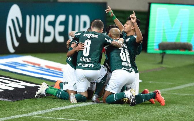 3 - Palmeiras: R$ 3,55 bilhões foi a receita do Palmeiras, terceiro clube da lista