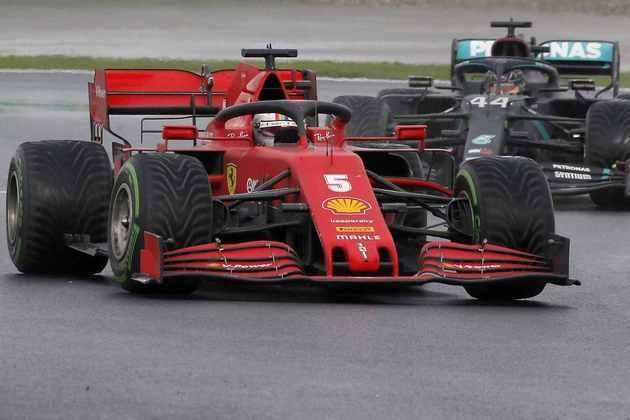 3 - Sebastian Vettel (Ferrari) - 9.23 - Finalmente uma grande performance em 2020.