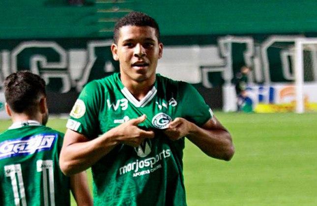 30º - Vinícius Lopes - Time: Goiás - Posição: Centroavante - Idade: 22 anos - Valor segundo o Transfermarkt: 900 mil euros (aproximadamente R$ 5,56 milhões)