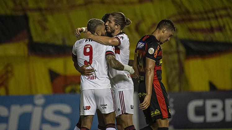 33ª rodada) Sport 0x3 Flamengo, na Ilha do Retiro, em 1º de fevereiro de 2021