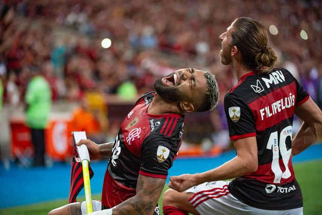 35 gols tem Gabriel Barbosa (32 pelo Flamengo e três pelo Santos) no