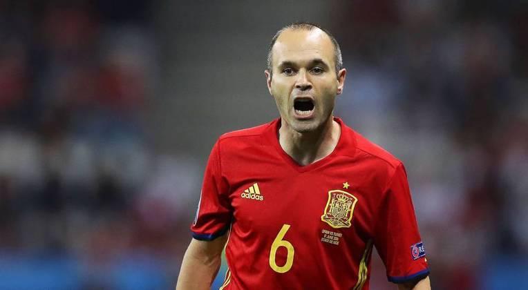 37) Andrés Iniesta (Espanha) - Futebol