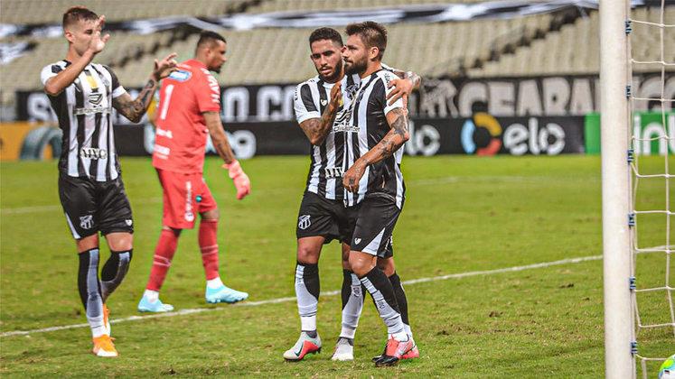 4º - Ceará - 65,1% de aproveitamento - 22 jogos - 14 vitórias - 1 empate - 7 derrotas