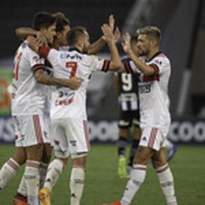 4º colocado – Flamengo (49 pontos/28 jogos): 4.7% de chances de ser campeão; 76.1% de chances de Libertadores (G6); 0% de chance de rebaixamento.