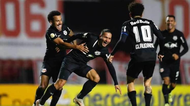 4º colocado – Red Bull Bragantino (27 pontos) – 14 jogos / 7.5% de chances de título; 71.1% para vaga na Libertadores (G6); 0.15% de chances de rebaixamento.