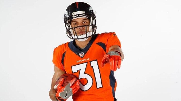 4. Justin Simmons (Denver Broncos): Desde 2019, Justin Simmons vem conquistando seu espaço entre os melhores safeties da NFL. Com nove interceptações nos últimos dois anos, o defensor dos Broncos foi All-Pro em 2019 e Pro Bowler em 2020. Suas notas no índice do PFF nas duas temporadas foram 90,7 e 77,4. A tendência é que Simmons continue em alto nível por um bom tempo.