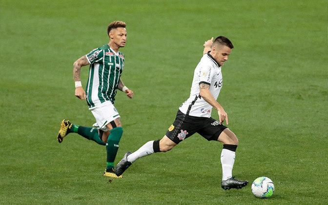 4ª rodada - Corinthians 3 x 1 Coritiba: Cássio; Fagner, Gil, Danilo Avelar e Sidcley; Gabriel e Cantillo; Ramiro, Araos e Léo Natel; Jô.