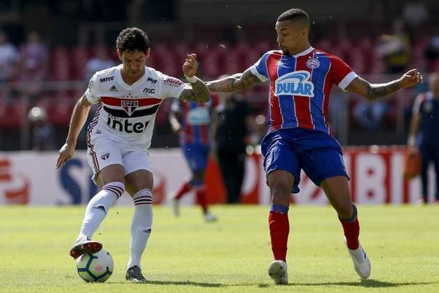 4ª rodada - São Paulo x Bahia - No dia 20 de agosto, quinta-feira, às 20h, o Tricolor receberá no Morumbi uma das suas maiores pedras no sapato em 2019: foram dois empates sem gols no Brasileiro e duas derrotas por 1 a 0 na Copa do Brasil.