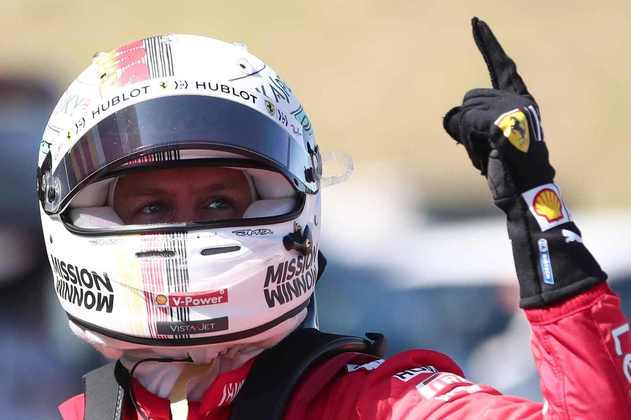 4 - Sebastian Vettel, 57 poles, a última delas com a Ferrari SF90 no GP do Japão de 2019