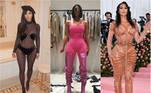Kim Kardashian completa 40 anos nesta quarta-feira (21), por isso selecionamos alguns looks nada básicos que provam que o estilo ousado da empresária e socialite não é pra qualquer um