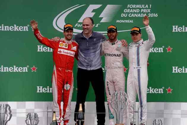45 - O GP do Canadá de 2016 marcou o início da recuperação do britânico no campeonato, segurando o ímpeto de Sebastian Vettel