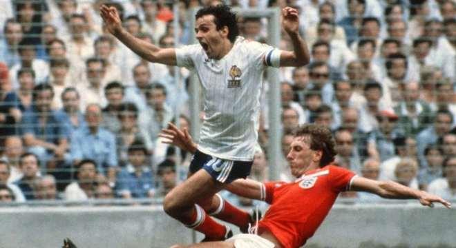 Inglaterra e França em jogo da Copa do Mundo de 1982