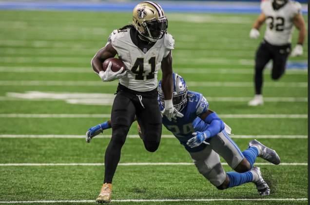 5º Alvin Kamara (Saints): Líder em touchdowns recebidos e corridos na NFL, com sete totais. É a principal arma ofensiva de New Orleans