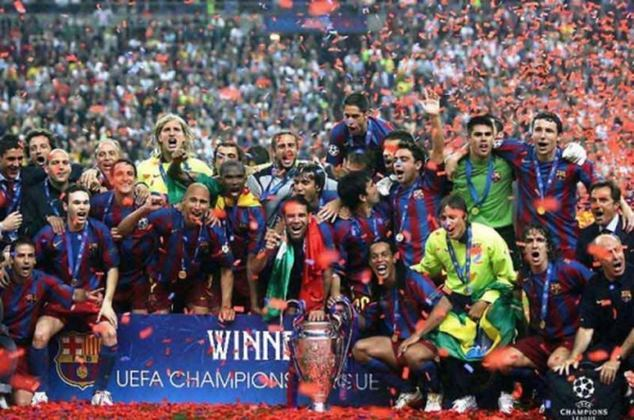 5º - Barcelona - 5 títulos (1991–92, 2005–06, 2008–09, 2010–11 e 2014–15).
