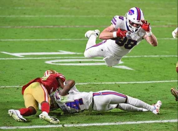 5º Buffalo Bills (9-3) - Com um confiante Josh Allen no comando, os Bills vão fazendo vítimas e próximos de conquistar a AFC East depois de 25 anos.